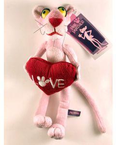 Peluche Pantera Rosa con Cuore - 25 cm